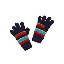 Buy John Lewis Children's Bar Stripe Gloves, Blue Multi Online at johnlewis.com