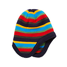 Buy John Lewis Children's Bar Stripe Trapper Hat, Blue Multi Online at johnlewis.com