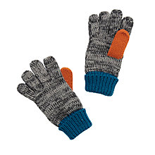 Buy John Lewis Children's Colour Block Glove, Grey/Blue Online at johnlewis.com