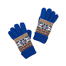 Buy John Lewis Children's Fair Isle Gloves, Blue/Multi Online at johnlewis.com