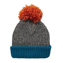 Buy John Lewis Colour Block Beanie Hat, Grey/Blue Online at johnlewis.com
