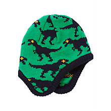 Buy John Lewis Children's Dinosaur Trapper Hat, Green/Navy Online at johnlewis.com