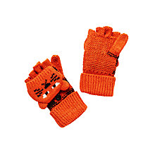 Buy John Lewis Children's Tiger Flip Gloves, Orange Online at johnlewis.com