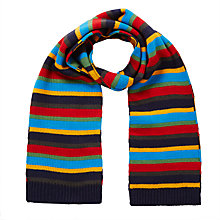Buy John Lewis Children's Bar Stripe Scarf, Multi Online at johnlewis.com