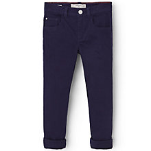 Buy Mango Kids Girls' Slim Fit Trousers, Blue Online at johnlewis.com