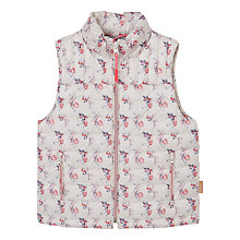 Buy Mango Kids Girls' Water-Repellent Gilet, White Online at johnlewis.com