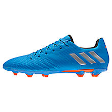 Buy Adidas Messi 16.3 FG Men's Football Boots, Blue/Silver Online at johnlewis.com