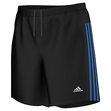 Buy Adidas Response Running Shorts, Black/Blue Online at johnlewis.com