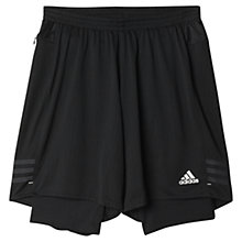 Buy Adidas Response Dual Shorts, Black Online at johnlewis.com