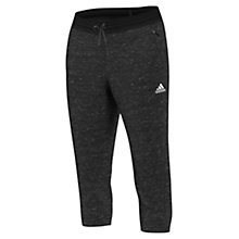 Buy Adidas Cotton Fleece 3/4 Bottoms, Black Online at johnlewis.com