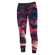Buy Adidas Training Flower Print Tights, Red Online at johnlewis.com