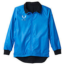 Buy Adidas Messi Windbreaker Boys' Top, Blue/Black Online at johnlewis.com
