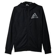 Buy Adidas Cross Training Hoodie, Black Online at johnlewis.com