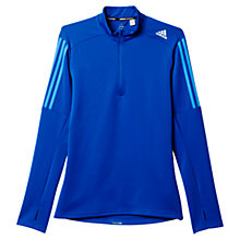 Buy Adidas Response Half Zip Long Sleeve Running Top, Navy/Blue Online at johnlewis.com