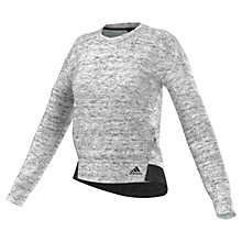 Buy Adidas Cotton Fleece Training Sweatshirt, Grey Online at johnlewis.com