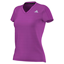 Buy Adidas Response V-Neck Running T-Shirt Online at johnlewis.com
