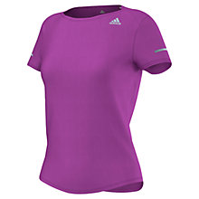 Buy Adidas Short Sleeve Running Top, Purple Online at johnlewis.com