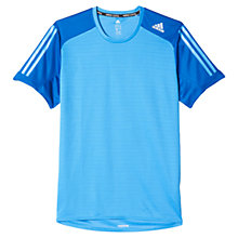 Buy Adidas Supernova Response Short Sleeve Running Top, Blue/Ray Blue Online at johnlewis.com