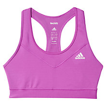 Buy Adidas Techfit Sports Bra, Purple Online at johnlewis.com