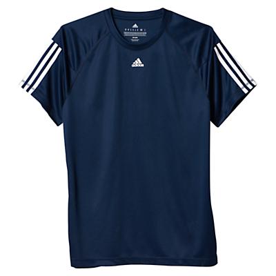 Image of Adidas Base 3-Stripes Training T-Shirt, Navy/White