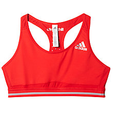 Buy Adidas Techfit Climachill Weightlifting Sports Bra, Red Online at johnlewis.com