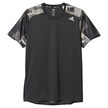 Buy Adidas Response Short Sleeve Running T-Shirt, Utility Black Online at johnlewis.com