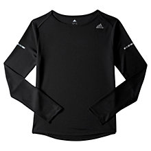 Buy Adidas Sequencials Climalite Long Sleeve Running Top, Black Online at johnlewis.com