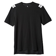 Buy Adidas Athletics Hethered T-Shirt, Black Online at johnlewis.com