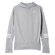 Buy Adidas Running Response Icon Hoodie, Grey Online at johnlewis.com