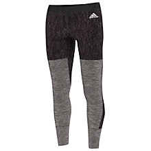 Buy Adidas Tri-Blend Running Tights, Black Online at johnlewis.com