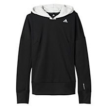 Buy Adidas Running Response Climawarm Astro Hoodie, Black/White Online at johnlewis.com