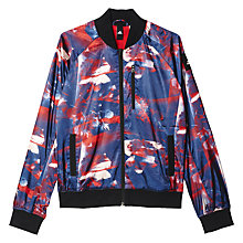 Buy Adidas Athletics Flower Bomb Jacket, Red/Blue Online at johnlewis.com