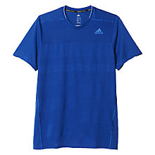 Buy Adidas Supernova Short Sleeve Running Top, Collegiate Royal Online at johnlewis.com
