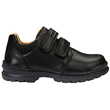 Buy Geox Children's JR William School Shoes, Black Online at johnlewis.com