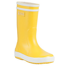 Buy Aigle Children's Lollypop Wellington Boots, Yellow Online at johnlewis.com