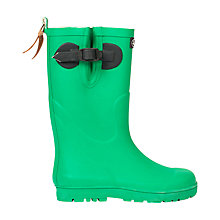 Buy Aigle Children's Strap Fastener Wellington Boots, Bright Green Online at johnlewis.com