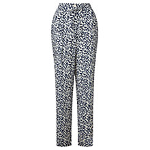 Buy Jigsaw Broken Geometric Drawstring Trousers, Blue Online at johnlewis.com