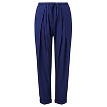 Buy Jigsaw Cotton Drawstring Trousers, Indigo Online at johnlewis.com