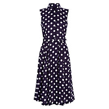 Buy Hobbs Cath Spot Shirt Dress, Navy/Ivory Online at johnlewis.com