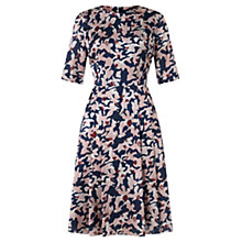 Buy Jigsaw Abstract Ink Floral Dress, Multi Online at johnlewis.com