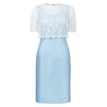 Buy Hobbs Evie Lace Dress, Crystal Blue Online at johnlewis.com