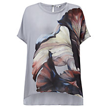 Buy Jigsaw Magnified Petal Silk Top, Multi Online at johnlewis.com