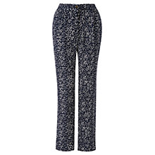 Buy Jigsaw Micro Triangle Trousers, Navy Online at johnlewis.com