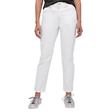 Buy Jigsaw Manhattan Frayed Cropped Jeans, Ivory Online at johnlewis.com