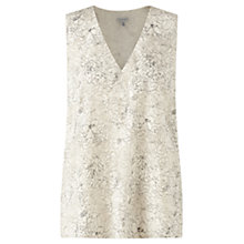 Buy Jigsaw Sketch Floral Jacquard Top, Ivory Online at johnlewis.com