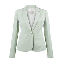 Buy Hobbs Nadia Jacket, Green/Ivory Online at johnlewis.com