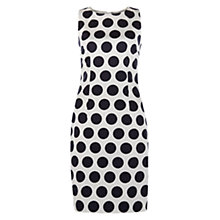 Buy Hobbs Regan Spot Dress, Ivory/Navy Online at johnlewis.com