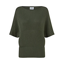 Buy Jigsaw Sunray Pleated Jumper, Moss Green Online at johnlewis.com