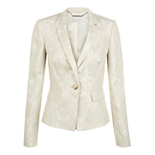 Buy Hobbs Faye Jacket, Ivory Online at johnlewis.com