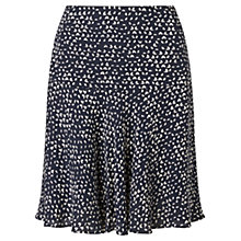 Buy Jigsaw Micro Triangle Flippy Skirt, Navy Online at johnlewis.com